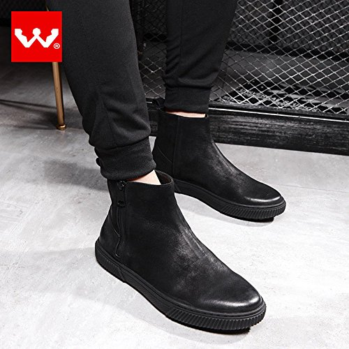 Men's Shoes Boots Short Ankle Comfort Casual Snow Walking Rainshoes Cowhide Loafers Slip-Ons 30-H39