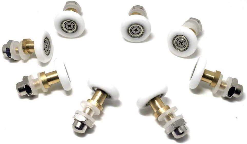Rodamientos para mampara de baño de 20 mm, 8 unidades
