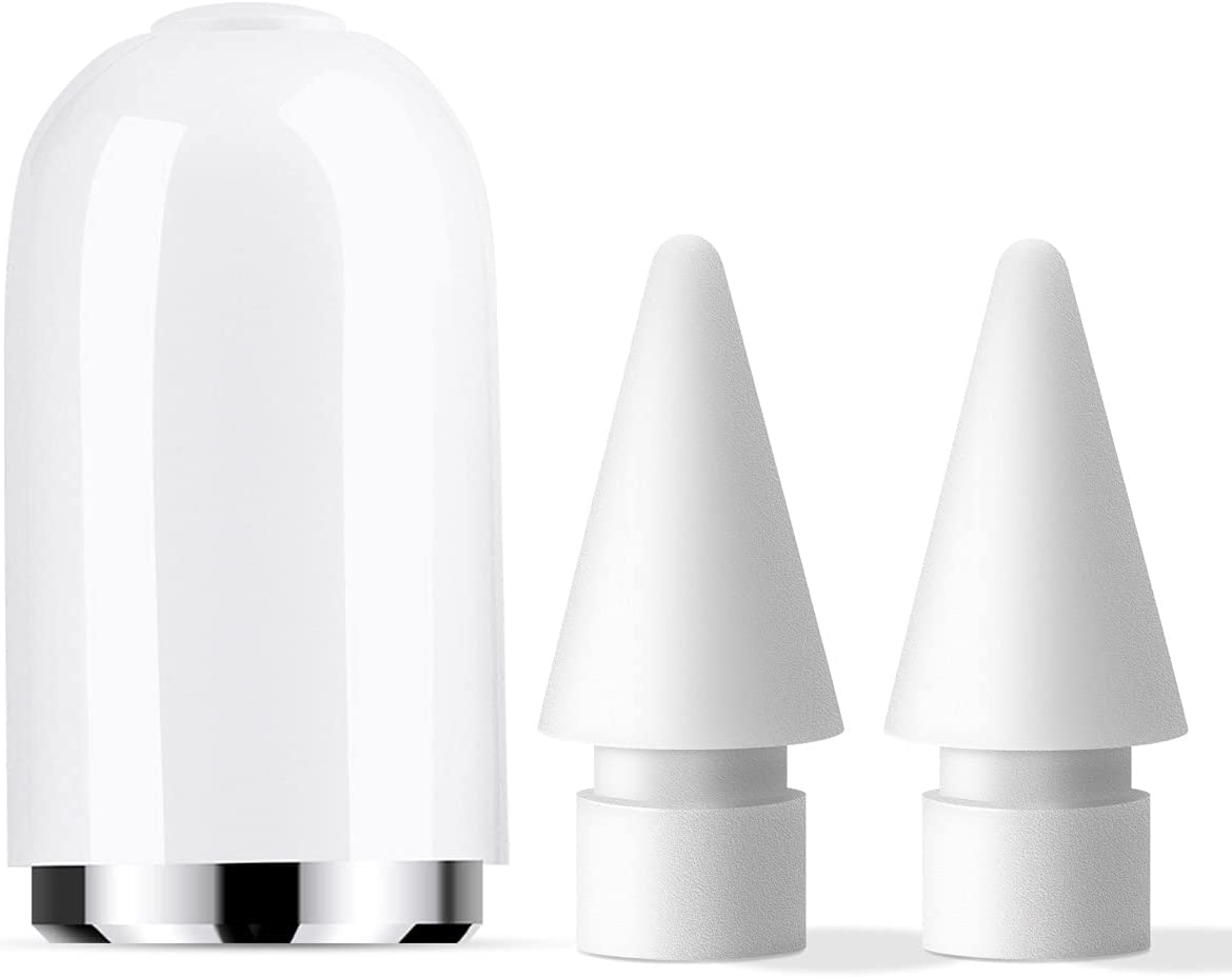 MJKOR Cap and Soft Noiseless Tip Replacement for Apple Pencil 1st Generation