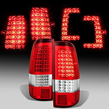 For C Shape Full Led Style 2003 2004 2005 2006 Chevy Silverado 2004 2006 Gmc Sierra Taillights Pair