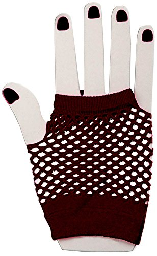 Dramatic 80s Fishnet Gloves, Black (80s Punk Rock Halloween Costumes)