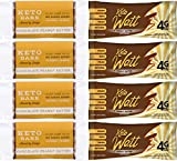 Fat Bombs Keto Bars – Chocolate Peanut Butter Sampler Set, 8 Bars