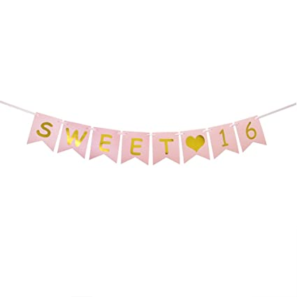 Sweet 16 Birthday Party Pack – Sweet Sixteen Decorations, Party Favors, Supplies, Gifts