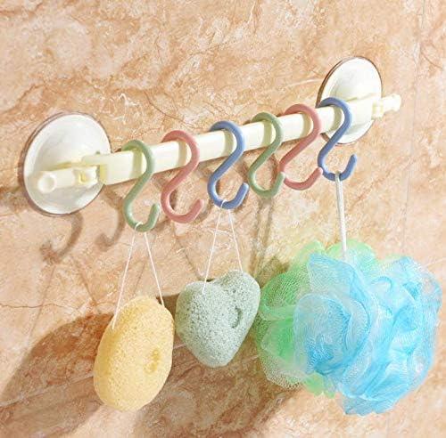 Dusenly tama/ño 6,8 x 3 cm Juego de 24 ganchos de pl/ástico en forma de S para colgar toallas de ba/ño dormitorio oficina y cocina