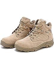 LiliChan Men's Side Zip Duty Work Tactical Boots
