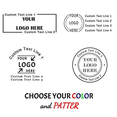 "Custom Logo Stamp Self Inking,Logo Stamp Personalized,1-5/8"" Diameter,Round Rubber Address Stamp for Business,Office,Return,Wedding,Teacher,Home,Bank"