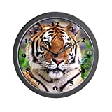 CafePress – Siberian Tiger – Unique Decorative 10″ Wall Clock For Sale