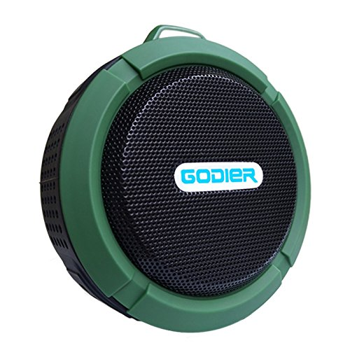 Godier Shower Speakers Waterproof Wireless Bluetooth Speakers with Suction Cup/ Built-in Mic/ Rechargeable Battery for PC Laptop Cellphone for Outdoor Sports Hiking with Stereo HD Sound
