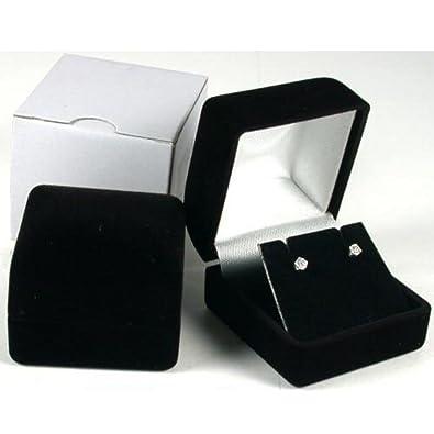 Amazoncom Earring Gift Box Black Velvet Flocked Jewelry Display