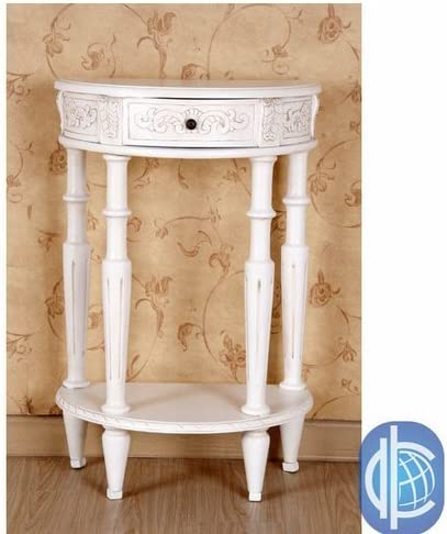 International Caravan Furniture Piece Carved Small 1 2 Moon 2-Tier Wall Table
