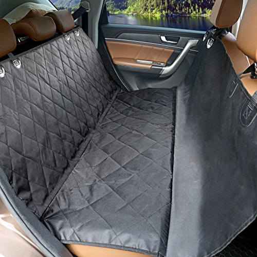 MOKOQI Pet Travel Barrier Dog Seat Covers With Adjustable Seat Anchors And Seat Belt Opening WaterProof & NonSlip Backing Dog Car Hammock For All Cars Trucks SUV(Black) (Travel Seat Belt compare prices)