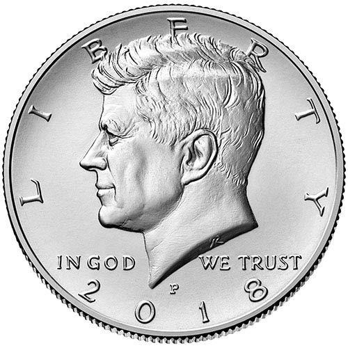 - 2018 P & D BU Kennedy Half Dollar Choice Uncirculated US Mint 2 Coin Set