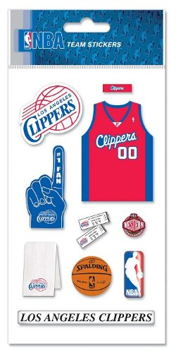 NBA Los Angeles Clippers Basketball Dimensional Scrapbook Stickers ()