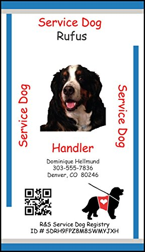 Personalized Service Animal ID Card with Online Registration - Registration valid for Service Dog, Psychiatric Service Dog, Emotional Support Animal, and Therapy Animal. (Emotional Service Dog Kit compare prices)