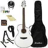 Breedlove Guitars Pursuit Concert WH-KIT-2 Acoustic-Electric Guitar, White Kit 2