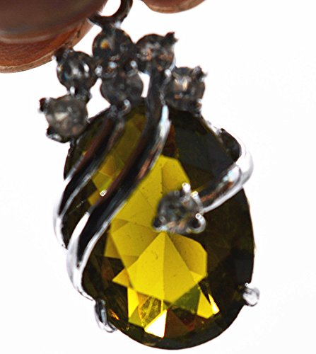 Exquisite 13x18mm Citrine Crystal Oval Inlay Pendant for sale  Delivered anywhere in USA