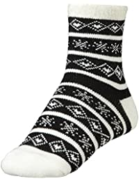 Women's Cozy Cabin Socks Black White