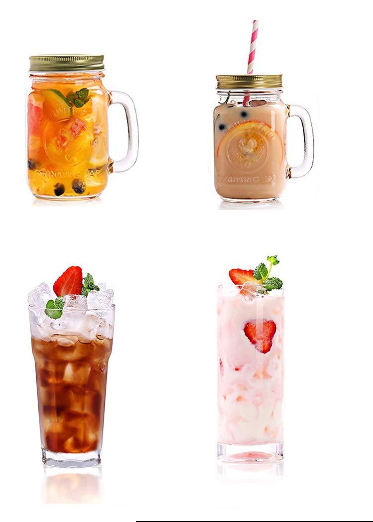 Lead-free Transparent Dessert Juice Milk Glass Tea Milkshake Portable Outdoor Beverage Cup Coke Bottle Beverage Cocktail Glass Explosion-proof Beer Mug