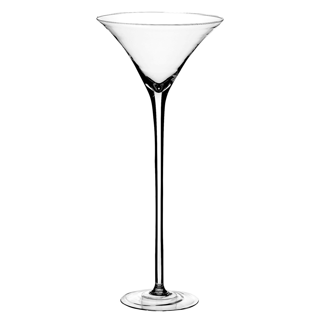 Syndicate Sales 19 1/2 Martini Glass Vase, Clear