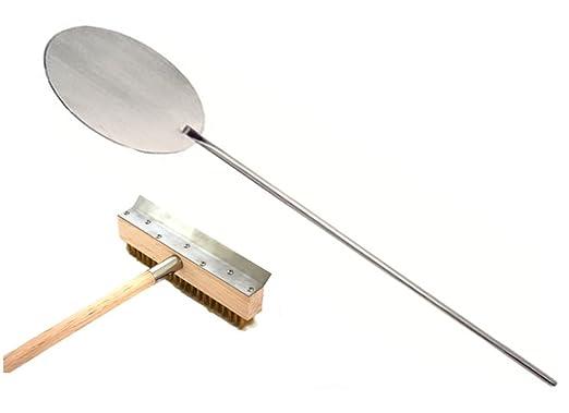 Horno para pizza raederas con cepillo + pala de diámetro de acero ...