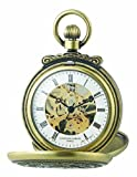 Charles-Hubert Paris 3868-G Classic Antique Gold-Plated Case Mechanical Pocket Watch