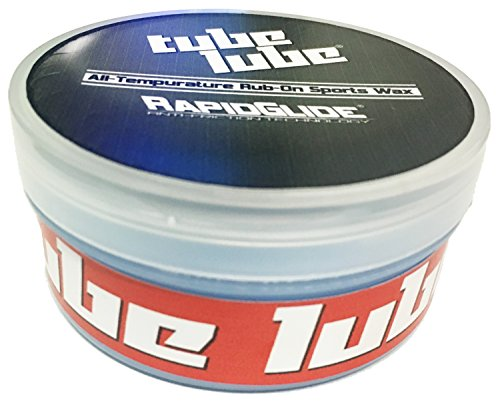 Rapid Glide Tube Lube Snow Tubing Speed Wax - All Temperature Rub-on Fluorocarbon - Fluorocarbon Wax