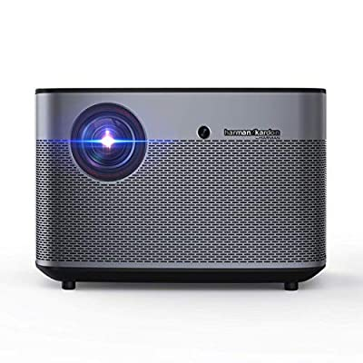 XGIMI H2 1080p Full HD 4k Smart 3D Projector, 1350ANSI lm, Android OS, Built-in Harman/Kardon Speakers, Auto-focus, 2.4G/5G Wi-fi, Bluetooth, DLP, HDMI/USB Video, Home Theater