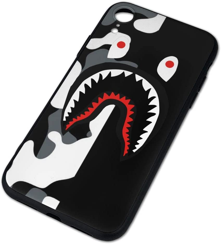 Tataoceanie Shark Teeth Hardshell Silicone Case for iPhone X/11/Xs Max/Xr with Matte Finish Bape Hypebeast iPhone Case