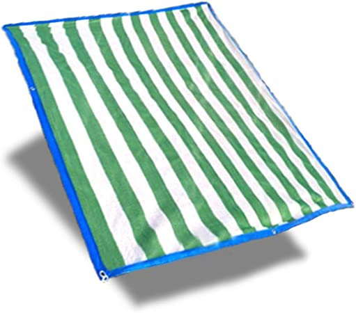 XIAOXIAO Malla de Sol Verde Y Blanco Red De Sombreado Red De Camuflaje Red Resistente A Los Rayos UV Aislamiento Balcón Patio Plantas Suculentas Protector Solar Jardín Flor Planta (Size : 5x9m):
