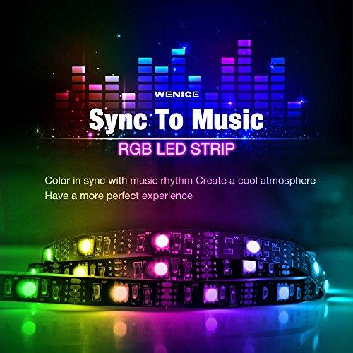 WENICE LED Strip Lights Music Sync,USB Powered Light Strip