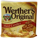 WERTHER'S ORIGINAL Caramel Hard Candies, 2.65 Ounce Bag (Pack of 12), Hard Candy, Bulk Candy, Individually Wrapped Candy Caramels, Caramel Candy Sweets, Bag of Candy, Hard Candy Bulk