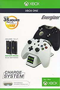 PDP Energizer Xbox One Controller Charger with Rechargeable Battery Pack for Two Wireless Controllers