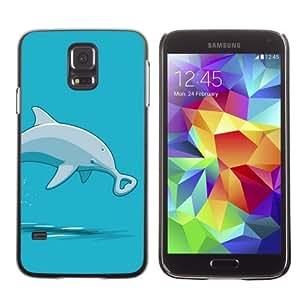 Designer Depo Hard Protection Case for Samsung Galaxy S5 / Bottlenose Dolphin