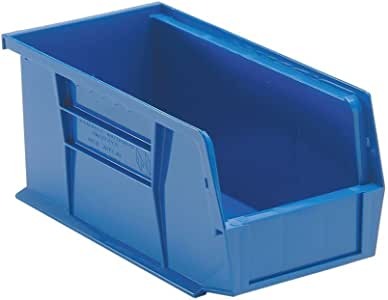 Quantum Storage Systems QUS230 Plastic Storage Stacking Ultra Bin, 10-Inch by 5-Inch by 5-Inch, Blue, Case of 12
