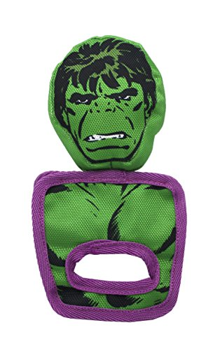 Marvel Comics Hulk Pull and Play Oxford Toy for Dogs | Super Hero Toys for All Dogs and Puppies