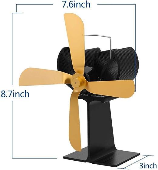 DADD Ventilador de Estufa de Calor para Estufa de leña Quemador de leña Chimenea: Ventilador ecológico y eficiente, distribución de Calor eficiente: Amazon.es: Hogar