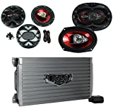 BOSS AUDIO AR1600.4 1600W 4 Channel Car Amplifier Amp+Remote+ 6.5'/6x9' Speakers