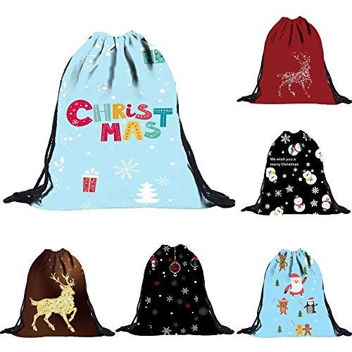 ✈ HYIRI Unisex Printing Draw Pocket Backpack Drawstring Bag