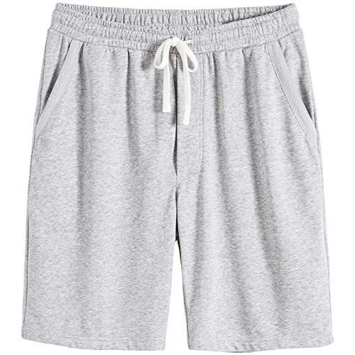 BEILU Men's Casual Cotton Active Shorts Elastic Workout Jogger Knit Shorts