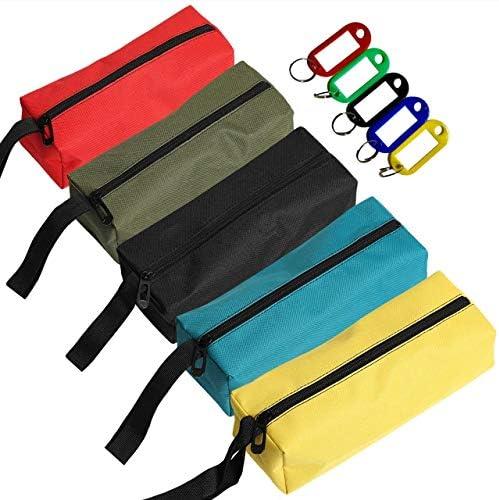 RER 道具袋 ツールバッグ 5個セット 道具入れ 工具バッグ 工具袋 オックスフォード ツールポーチ (5色セット A)