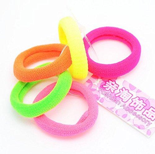 BingQing Elastic Hair Bands. Girls Toddler Kids Elastic Hair Bands Bobbles Bows Boutique-50 pcs