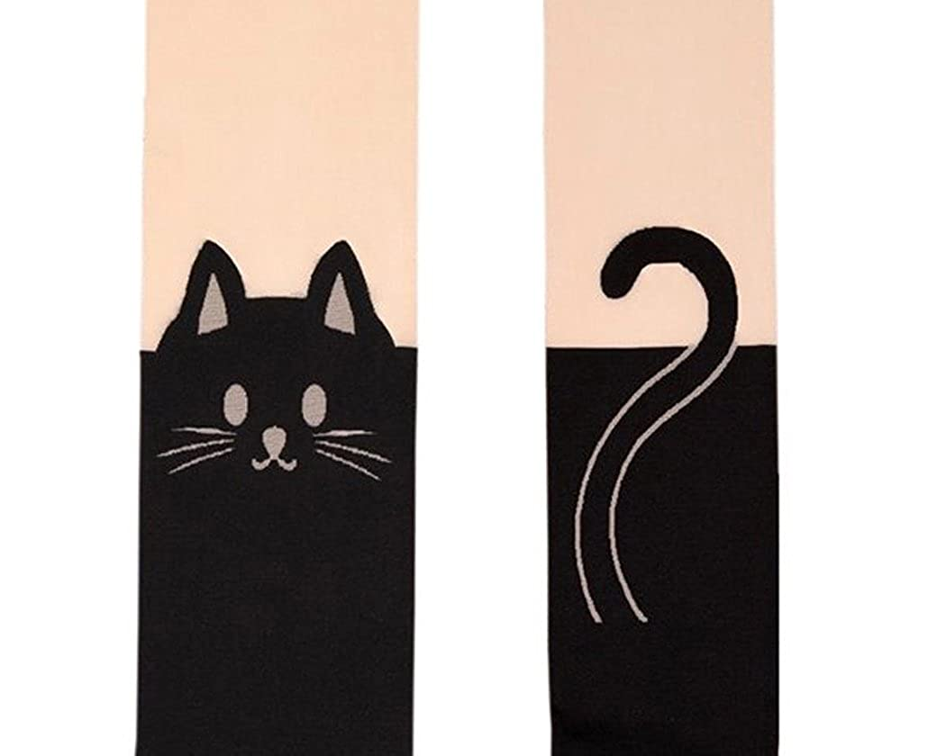 Shopready Cat Tail Tattoo Legging Tights Japanese Style Pantyhose Over Knee Socks