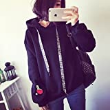 SOURBAN Women Winter Hoodies Sweater Printed Long Sleeve Pockets Casual Loose Pullovers
