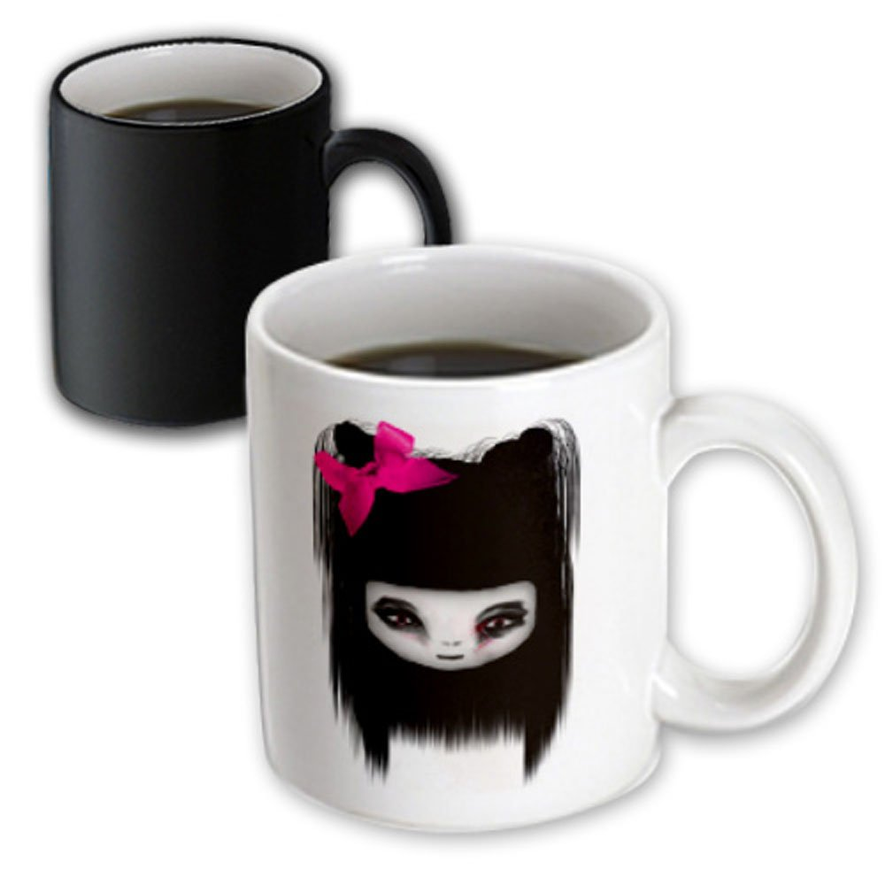 3dRose 15580/_3 Little Scary Doll Mug 11 oz Multicolor