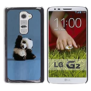 Impact Case Cover with Art Pattern Designs FOR LG G2 Tiny Baby Panda Quote Blue China Animal Betty shop