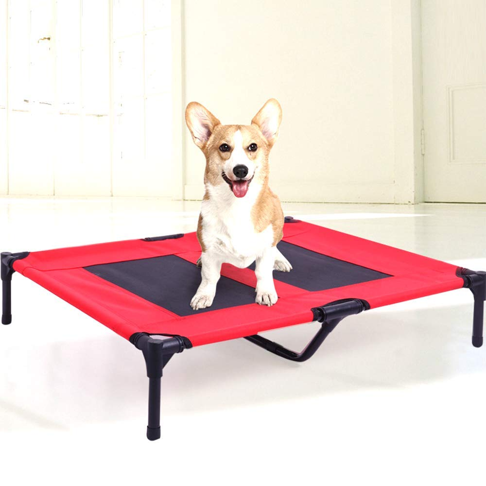 Red X-Large Red X-Large Premium Dog's Bed, Pet Camp Bed,Four Seasons Universal pet Supplies Sleeping mat, Dog Portable Camping Cot Removable Medium and Large Kennel Kennel Ventilation mat(Red,S,M,L,XL)