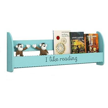 c49fe57b76a Axdwfd Guardería Estante para Libros, De Madera Estantes Flotantes Cuarto De  Niños Imagen Repisa Libro