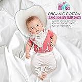 Little Baby Boo Super Soft Organic Head Shaping Pillow for Infants I Baby Pillow Memory Foam I Newborn Sleep Pillow I Flathead Pillow for Baby