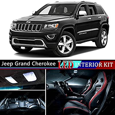 16pcs LED Premium Xenon White Light Interior Package Deal for Jeep Grand Cherokee 2011-2015