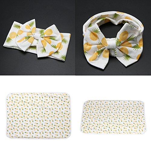 Diamondo 2pcs Baby Infant Swaddle Wrap Blanket Pineapple Print Sleeping Bag Headband by Diamondo (Image #2)